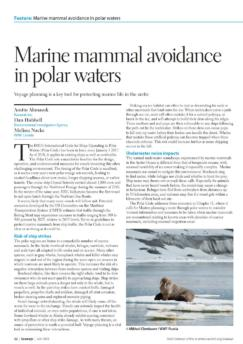 Voyage planning is a key too for protecting marine life in the artic
